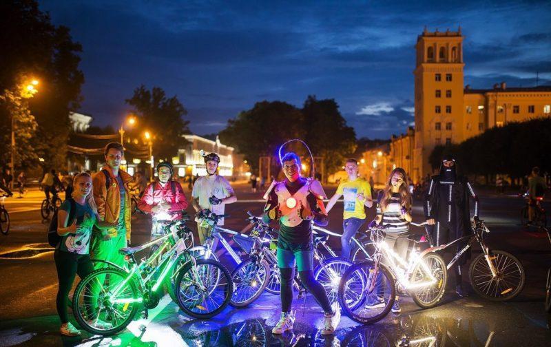 Московский ночной велофестиваль-2019 и установка рекорда Гиннеса
